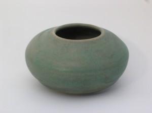 Short Green Vase